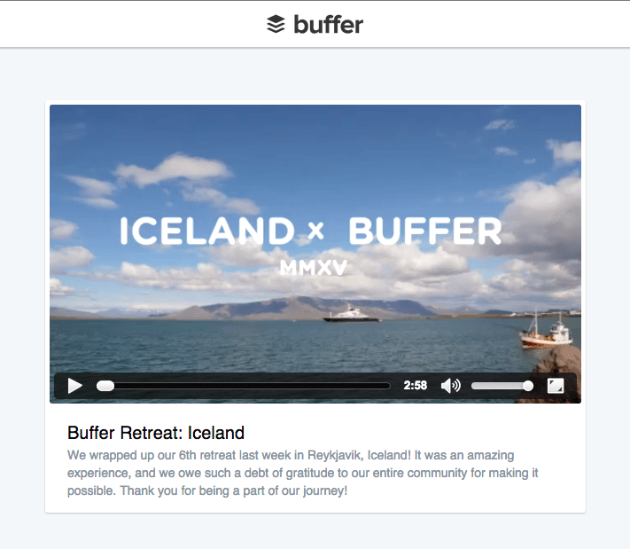 Buffer video player