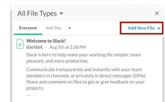 Slack add files