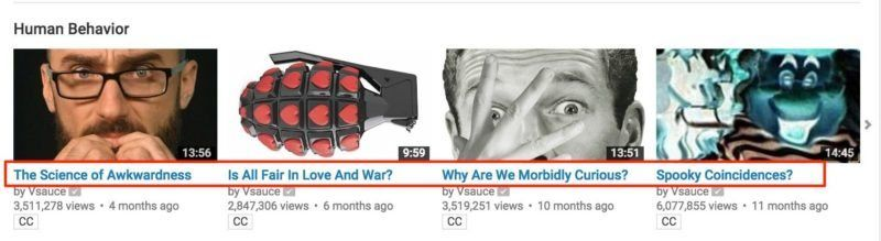 Video Titles