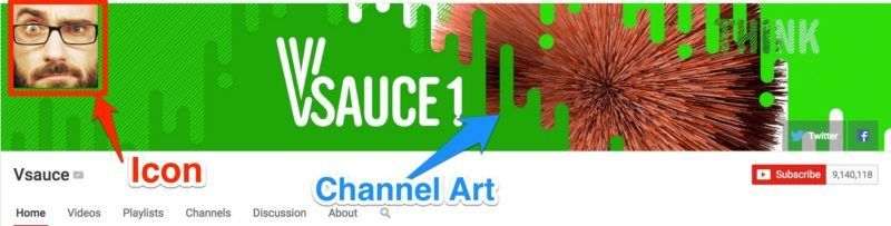 Vsauce icon channel art