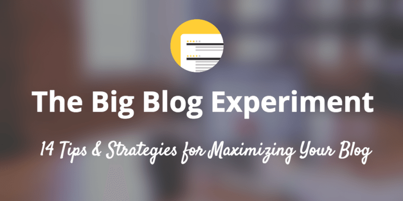 blog strategies and experiments