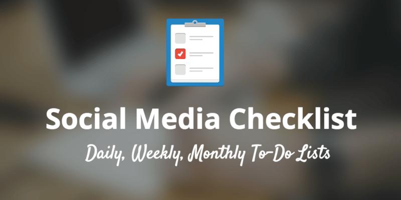 social media checklist article