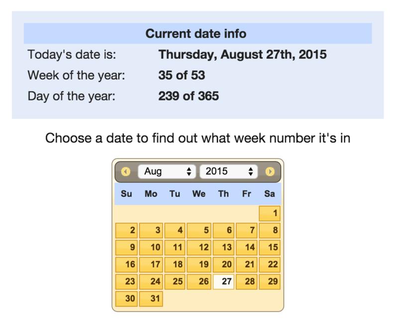 what week is it