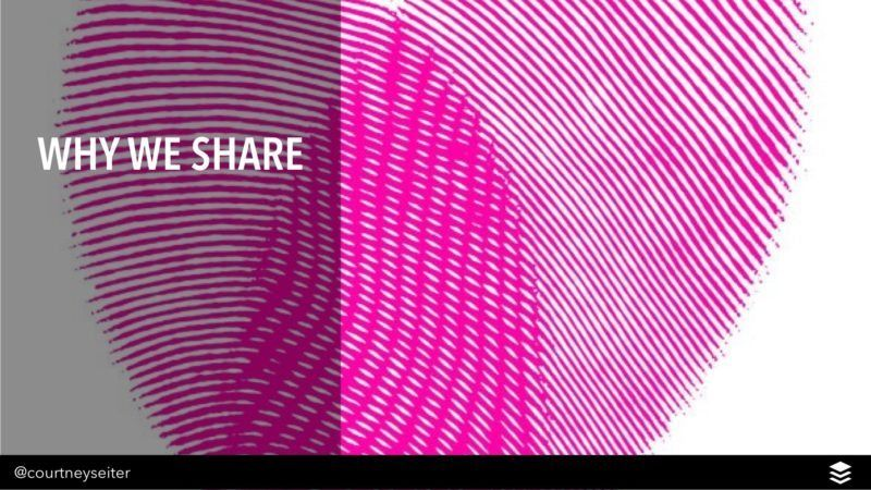 why we share
