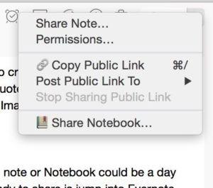Evernote share 2