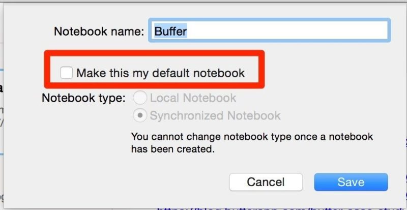 evernote default notebook 02