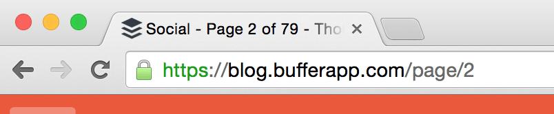 Buffer page url