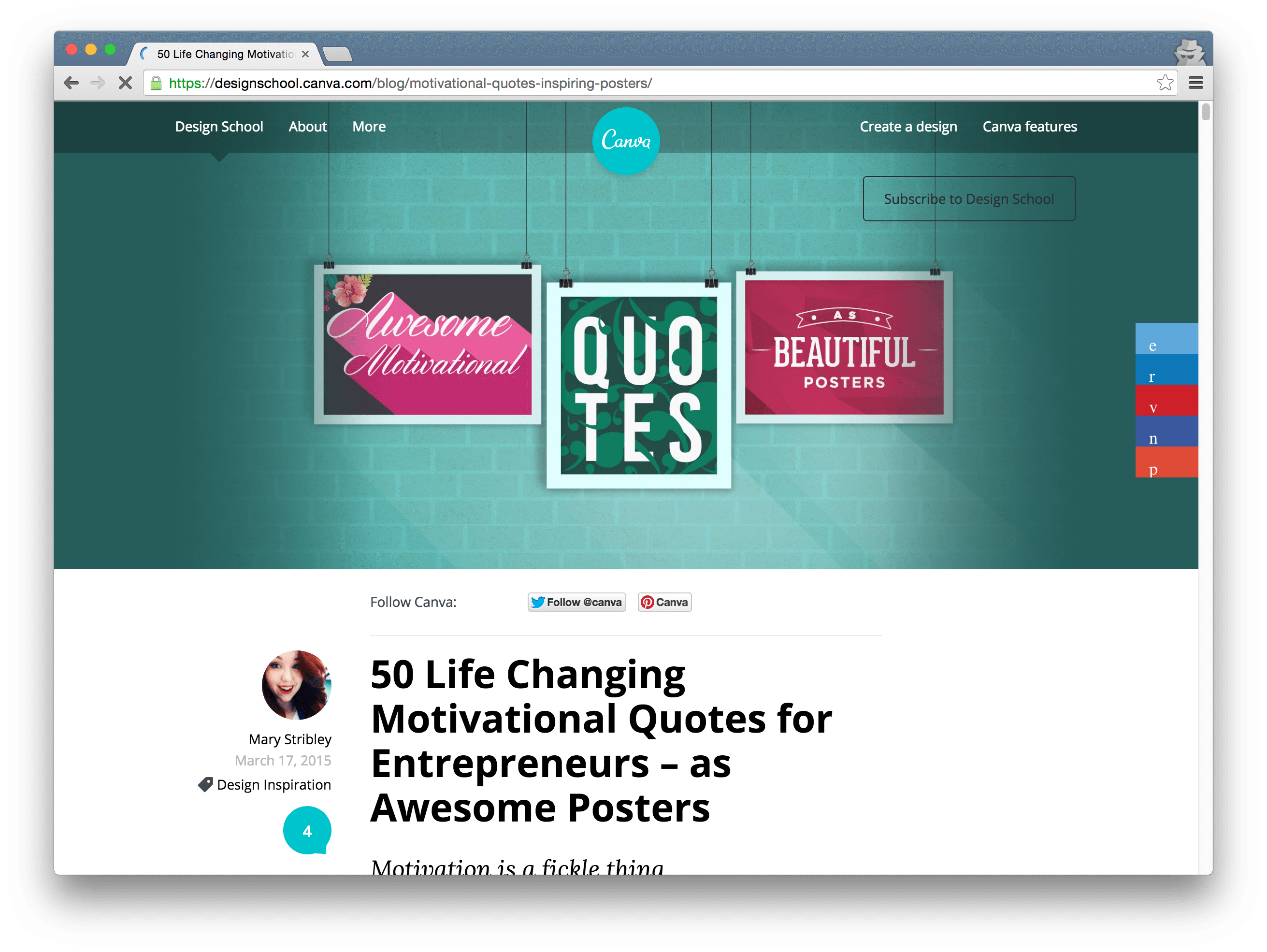 Canva blog post