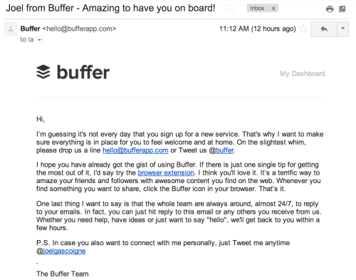 buffer-welcome