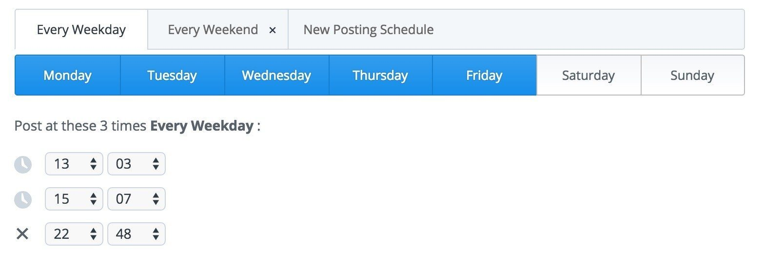 Buffer Facebook schedule 2