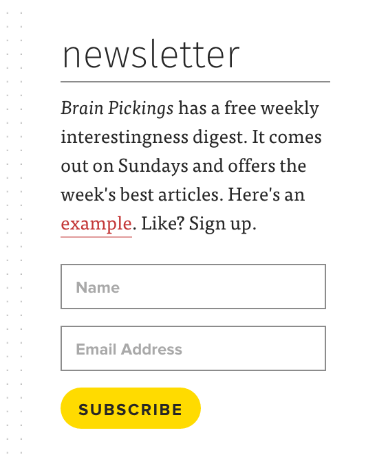 brain pickings email