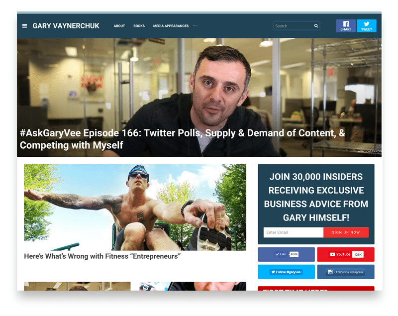 Gary V website