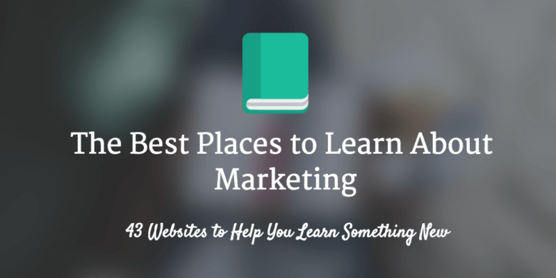 Best websites to Learn About Marketing