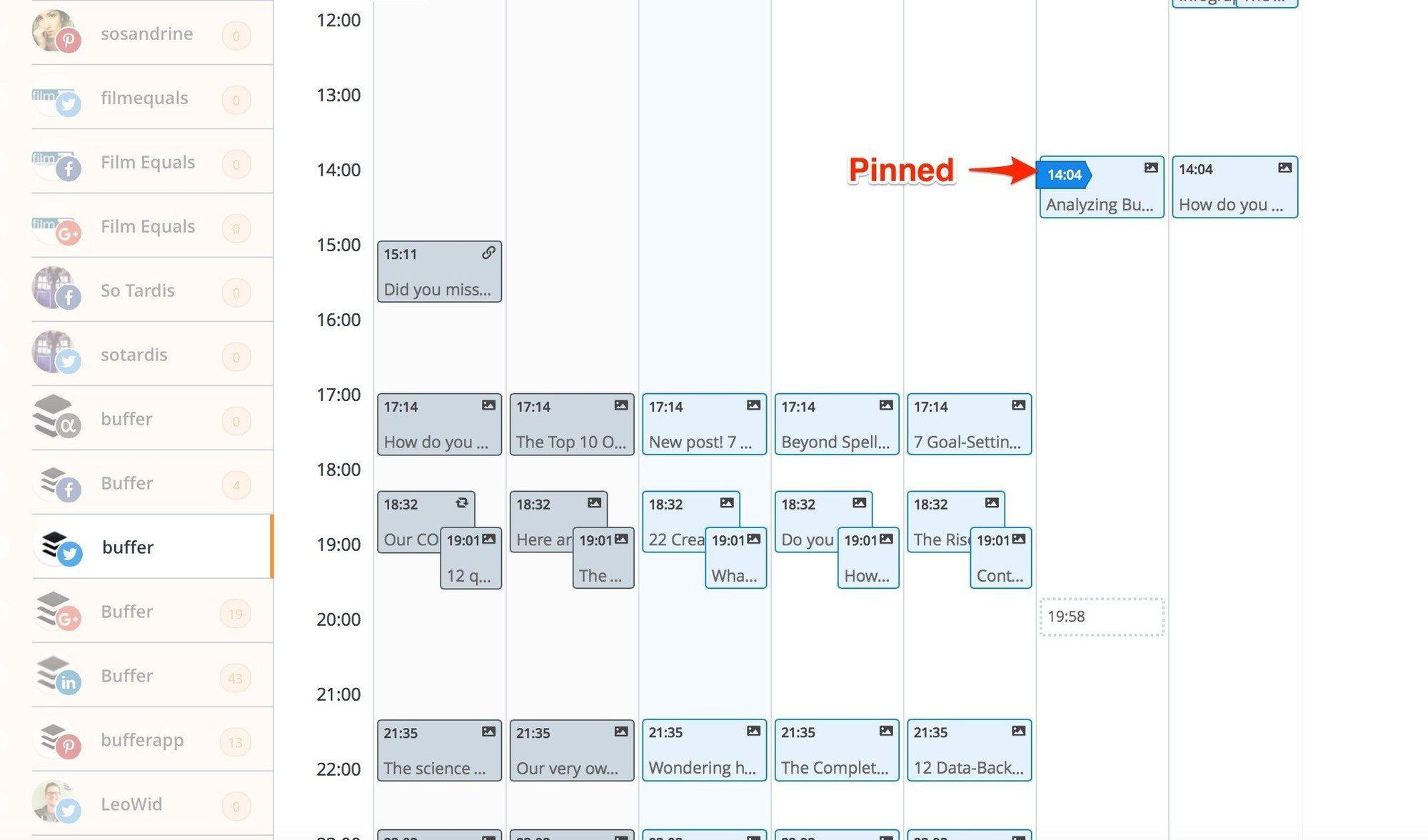 social media calendar pinned1