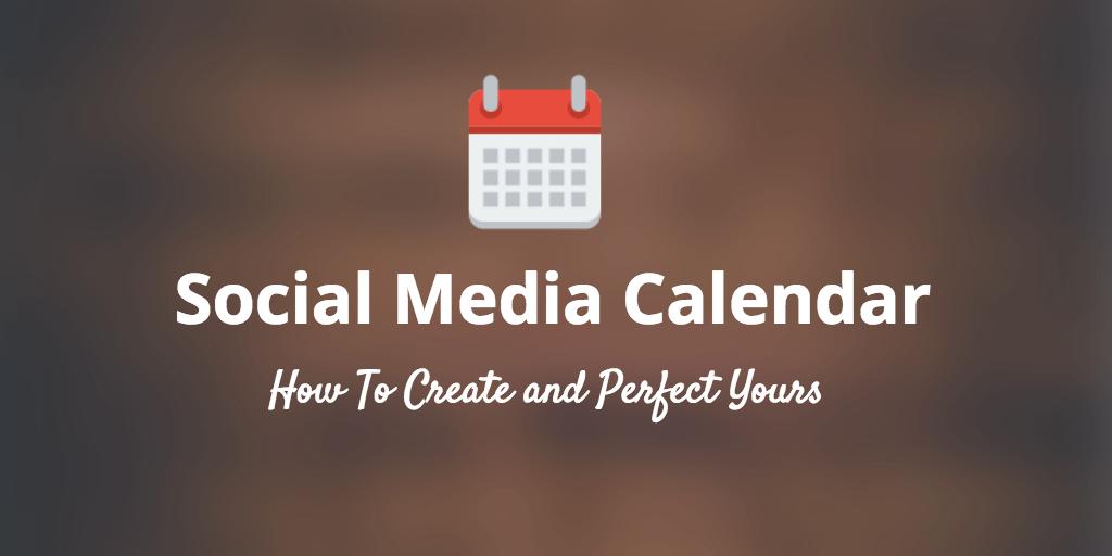 social media calendar post