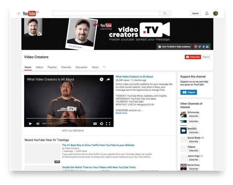 Video Creators channel