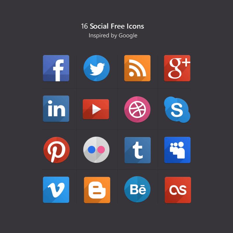 Free-Social-Flat-Icons