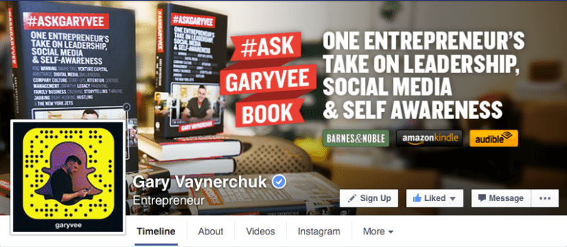 Facebook, Facebook pages, Gary Vaynerchuk