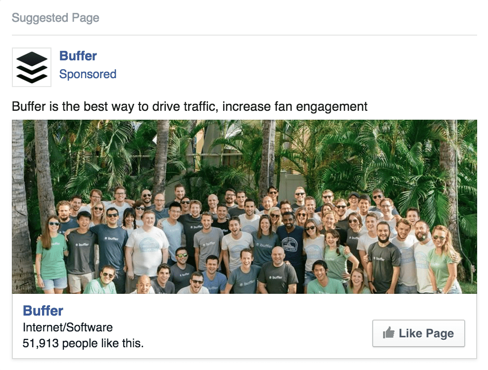 Page Likes - Facebook ads