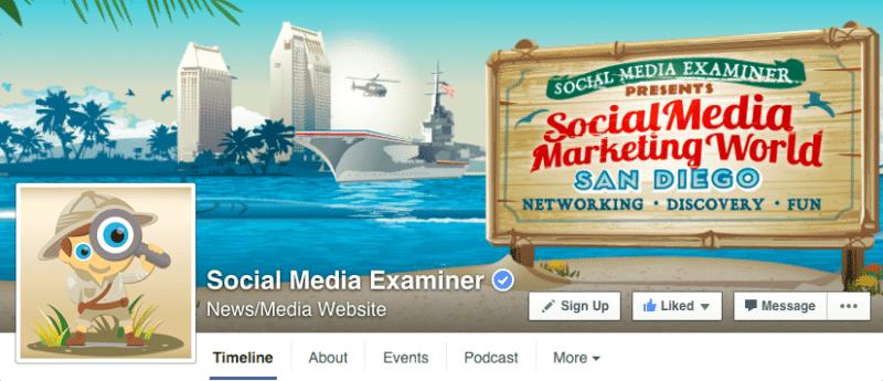 Facebook, Facebook pages, Social Media Examiner