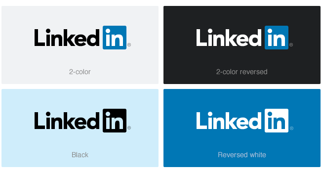 current linkedin logo variations