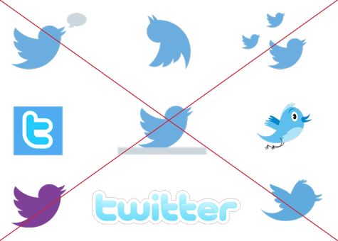 incorrect Twitter logos