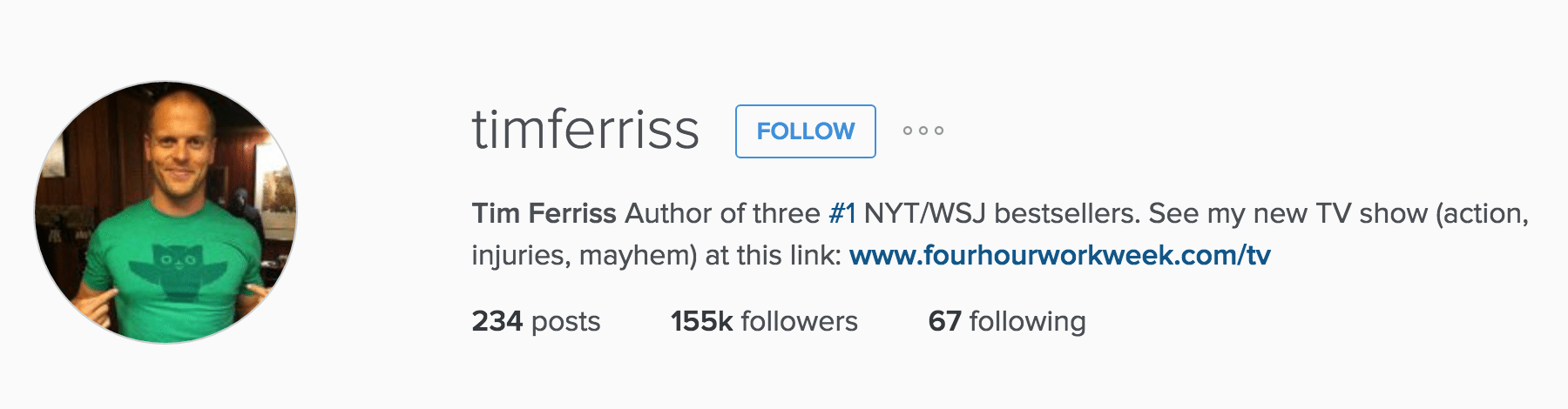tim ferriss instagram