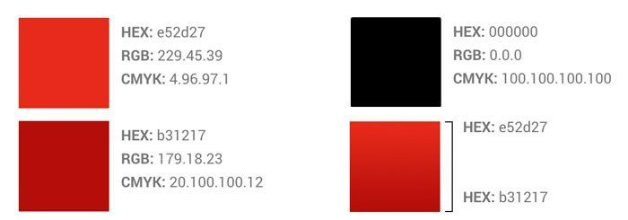 youtube color style guide for branding
