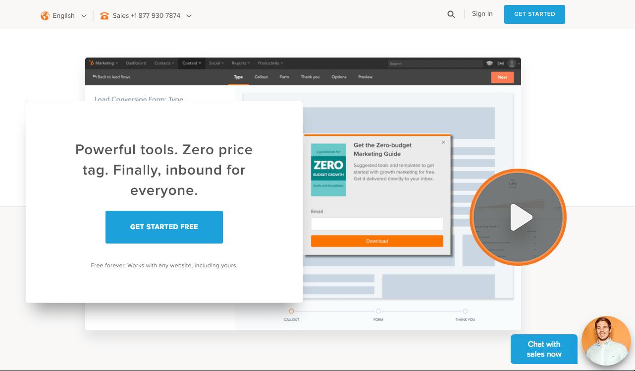 HubSpot Marketing Free