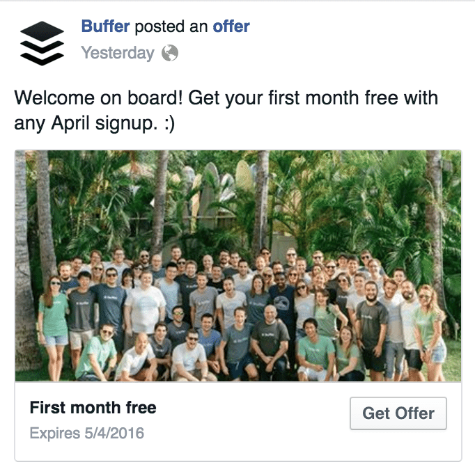 facebook ad claim your offer