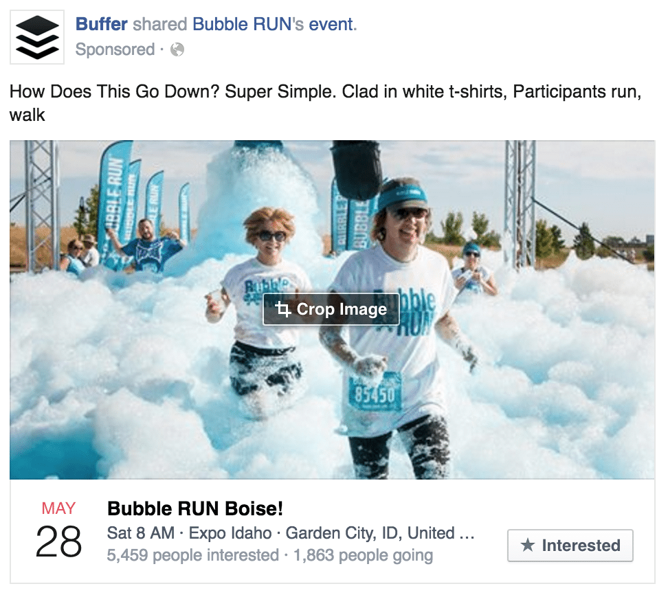 facebook ad raise attendance