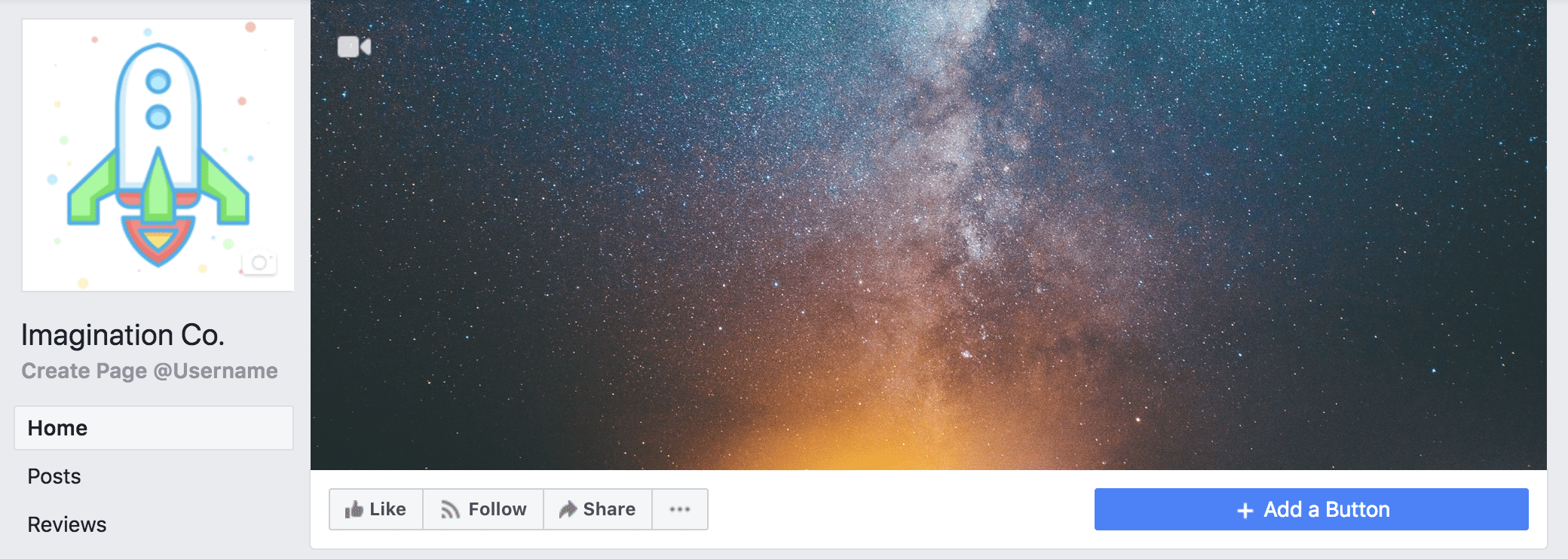 Facebook profile photo and cover photo example