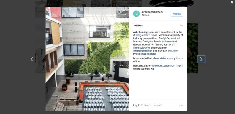 Airbnb Design Team Instagram Account