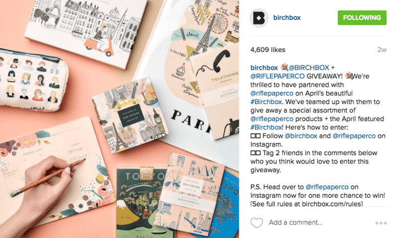 Birchbox UGC Content Campaign, UGC, user generated content, instagram, instagram growth