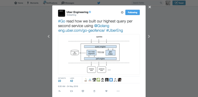 Uber's Engineering Twitter Account