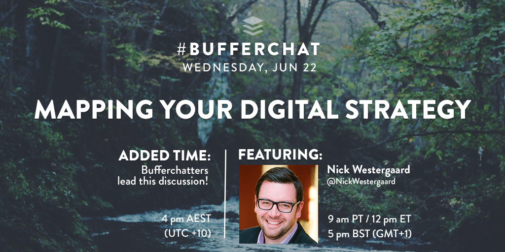 Bufferchat: Mapping Your Digital Strategy (June 22, 2016)