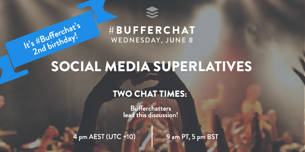 Bufferchat Wednesday June 8th: Social Media Superlatives