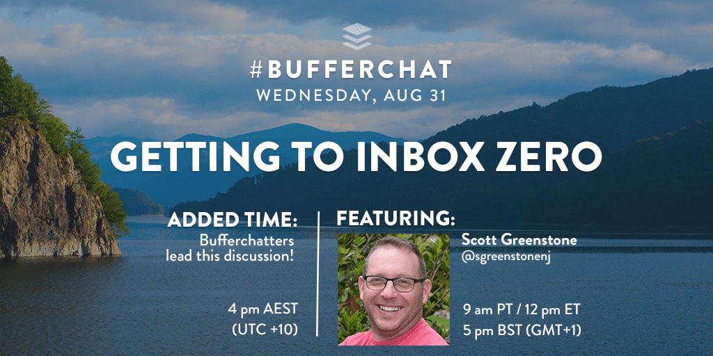 Bufferchat on Aug 31, 2016: Getting to Inbox Zero