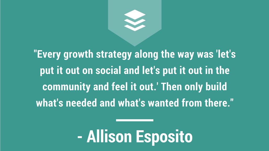 Allison Esposito Interview Quote