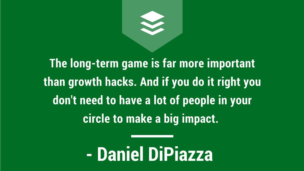 Daniel DiPiazza Interview Quote
