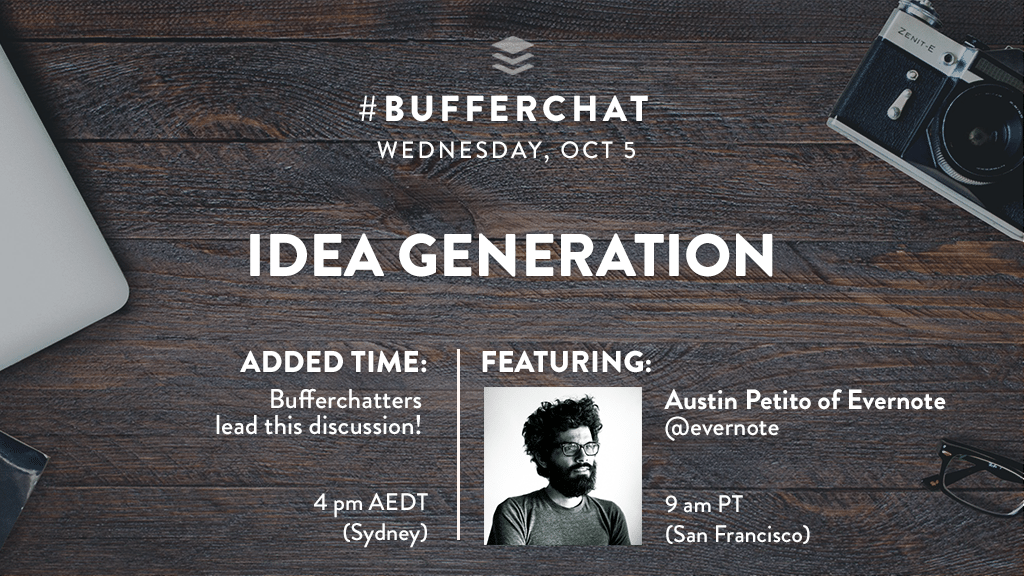Bufferchat on Oct 5, 2016: Idea Generation (with Evernote as our guest)