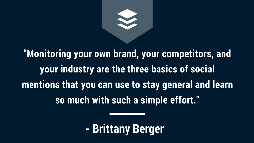 Brittany Berger Quote, Buffer Podcast, Social Mentions
