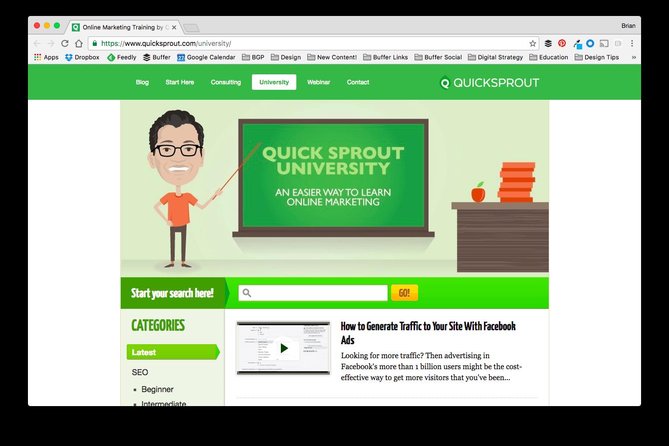 QuickSprout University