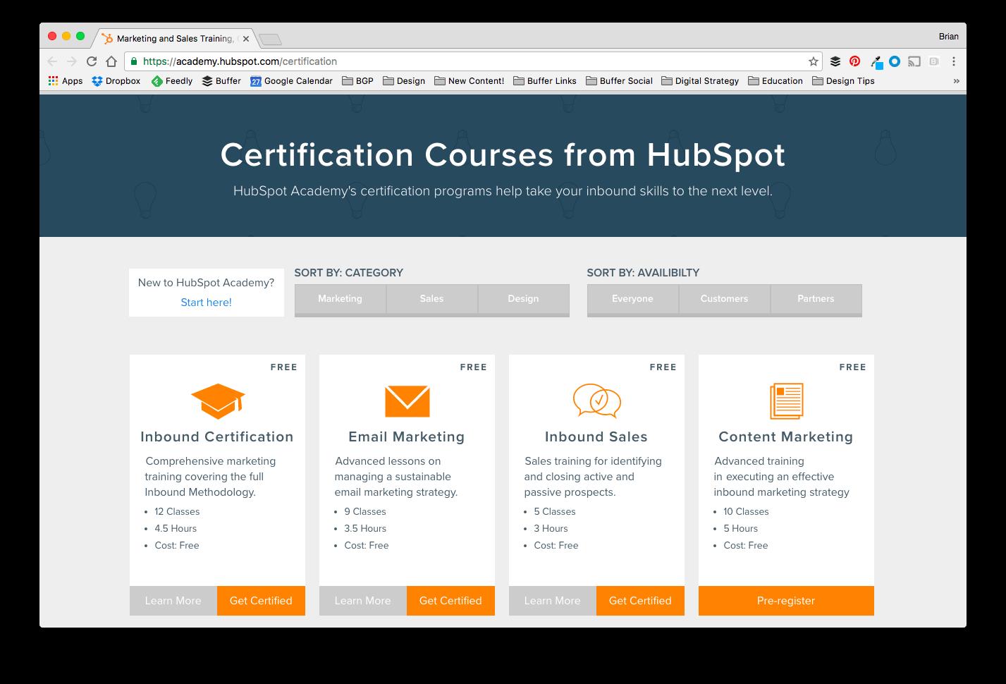 HubSpot Inbound Marketing Academy