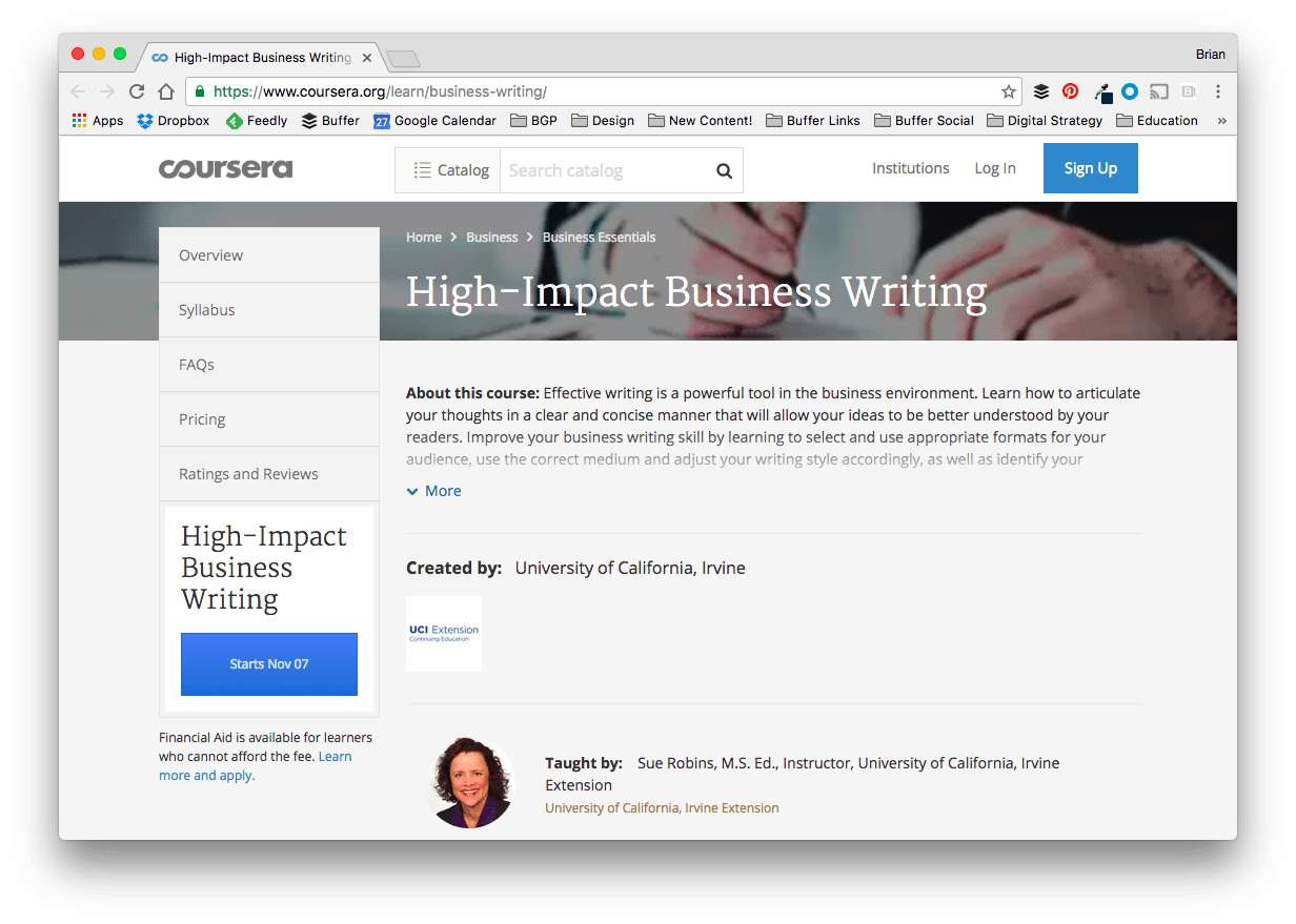 High-Impact Business Writing Online Course