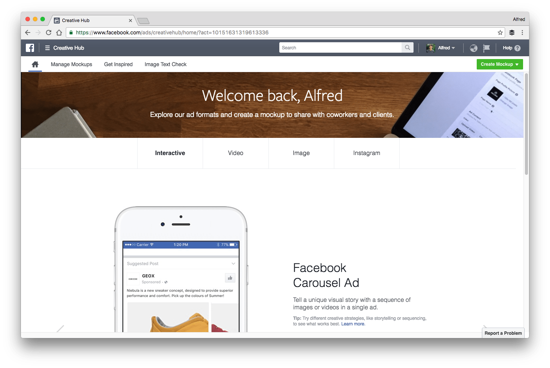 Facebook's Creative Hub