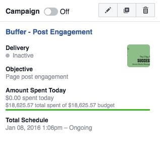 Facebook Ads Manager summary