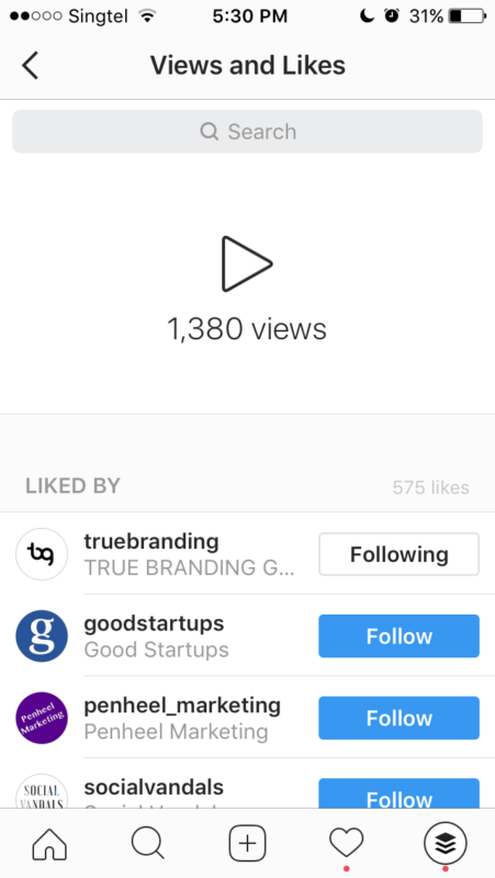 Instagram video metrics