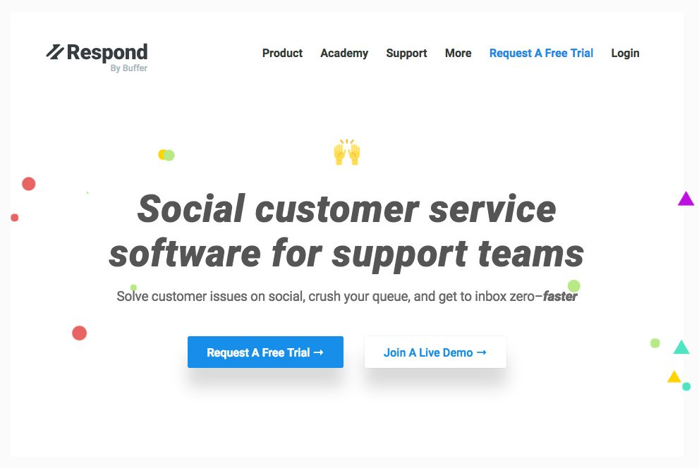 Respond by Buffer Landing Page