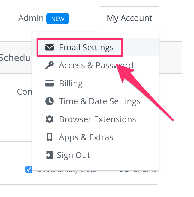account-email-settings
